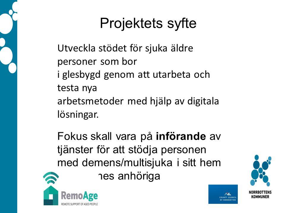 Utveckla stödet för sjuka äldre personer som bor i glesbygd genom att utarbeta och testa nya arbetsmetoder med hjälp av digitala lösningar.