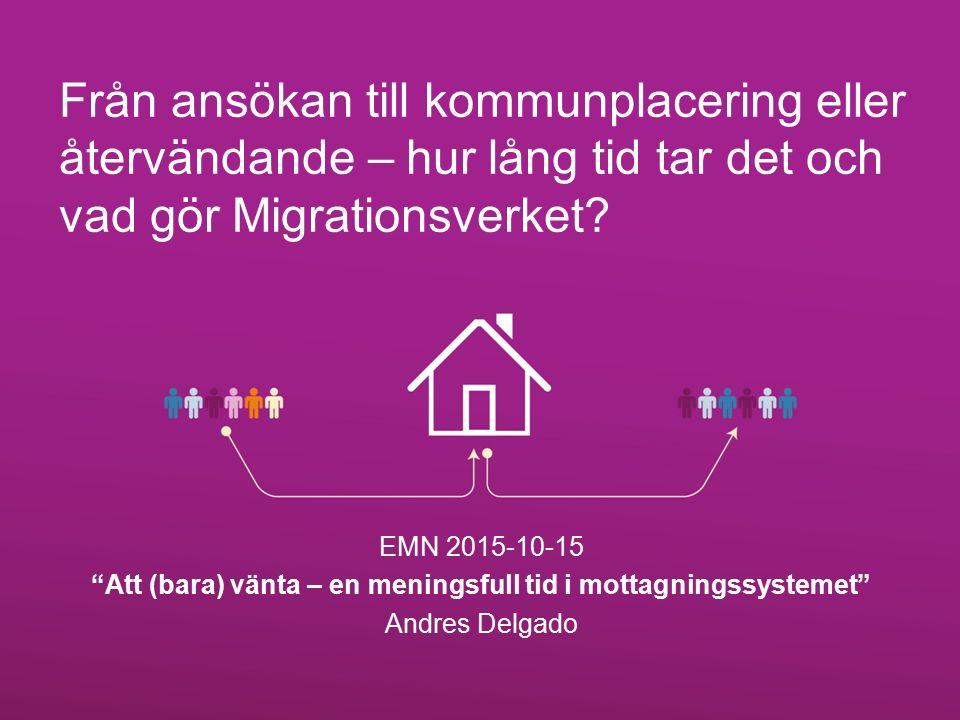 Från ansökan till kommunplacering eller återvändande – hur lång tid tar det och vad gör Migrationsverket.