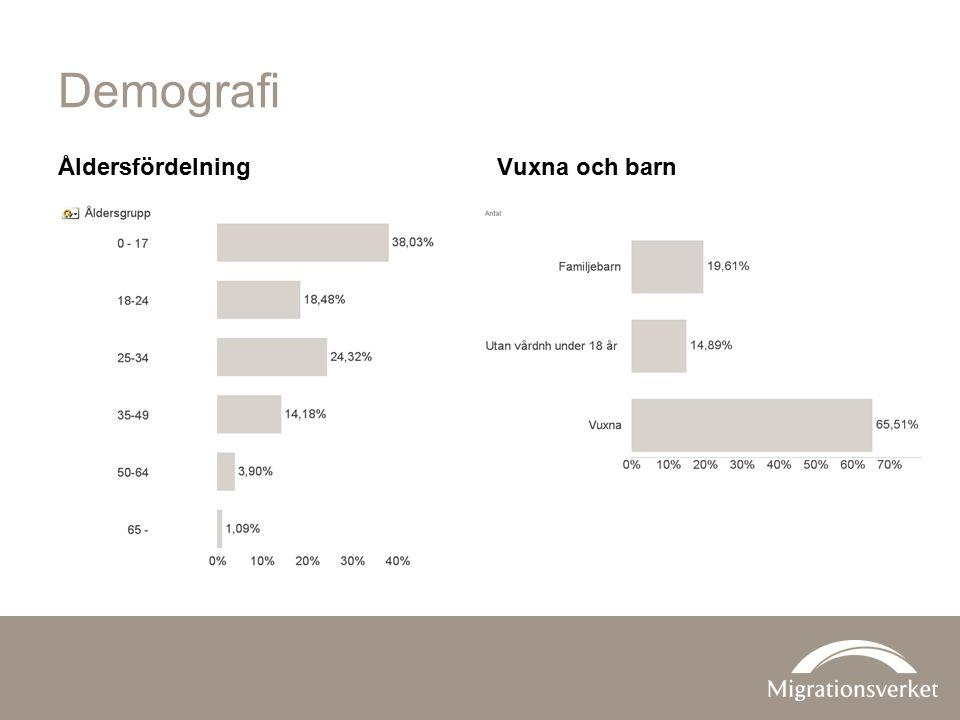 Demografi ÅldersfördelningVuxna och barn