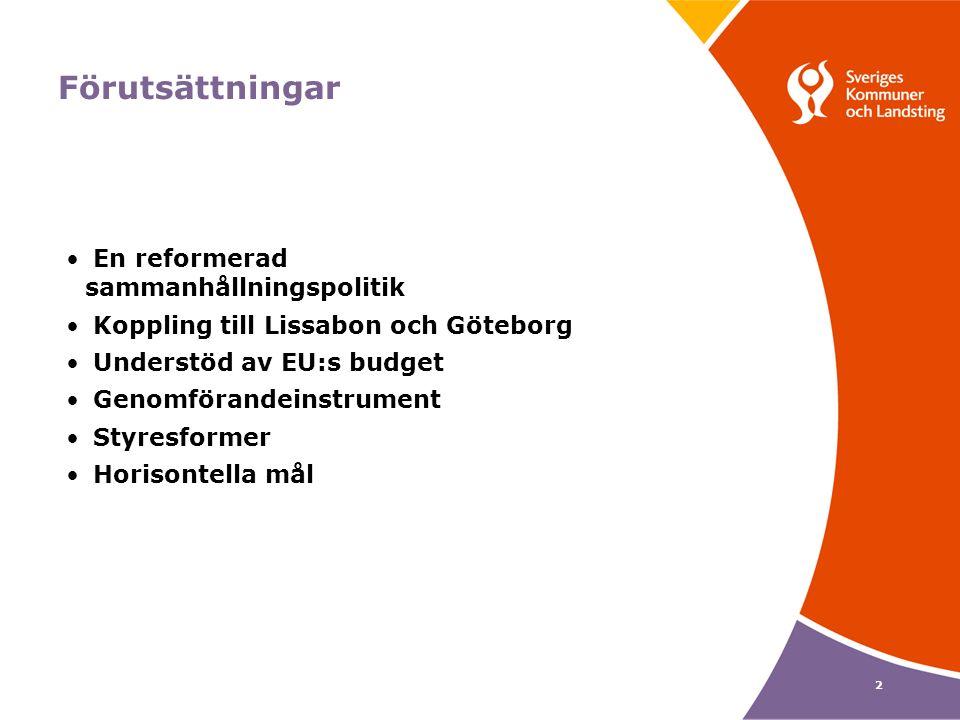 13 Stärker samarbetet mellan regionerna Territoriellt samarbete ett reguljärt mål 54 gränsregionala program, 13 transnationella program och 3 nätverksprogram Stöd till snabb kunskapsöverföring mellan regionerna genom Urbact och Interregionala programmen EGTC EU:s strategi för Östersjöregionen