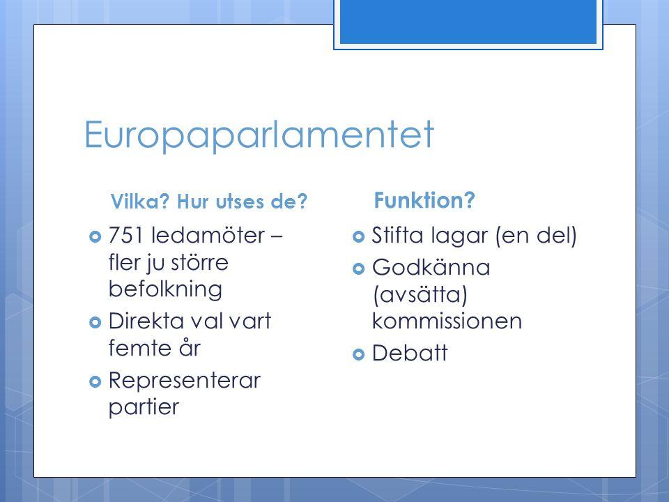 Europaparlamentet Vilka. Hur utses de.