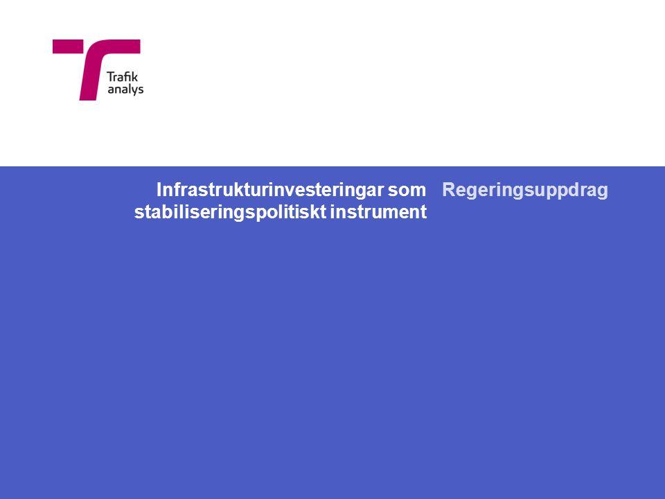 Infrastrukturinvesteringar som stabiliseringspolitiskt instrument Regeringsuppdrag