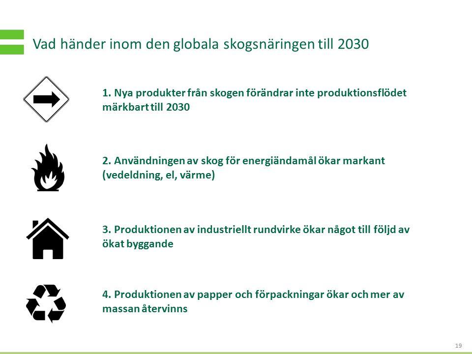 S TRATEGI - OCH AFFÄRSUTVECKLING FÖR HÅLLBART VÄRDESKAPANDE Vad händer inom den globala skogsnäringen till 2030 19 2. Användningen av skog för energiä