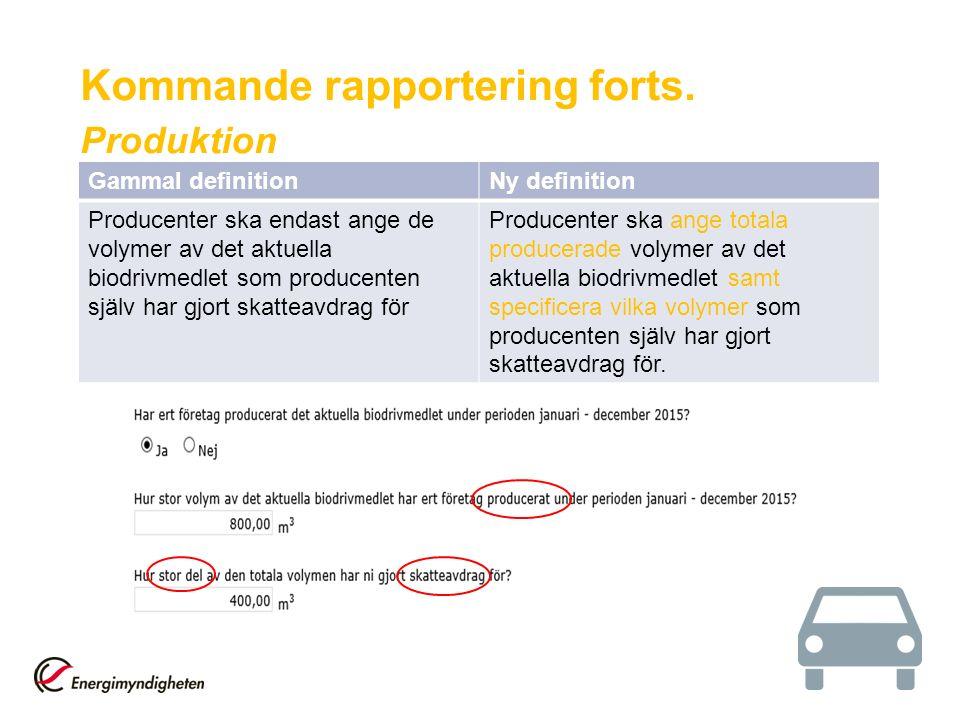 Gammal definitionNy definition Producenter ska endast ange de volymer av det aktuella biodrivmedlet som producenten själv har gjort skatteavdrag för P