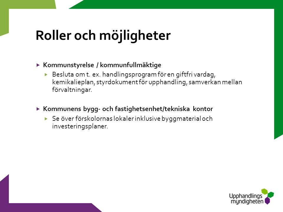 Roller och möjligheter  Kommunstyrelse / kommunfullmäktige  Besluta om t.