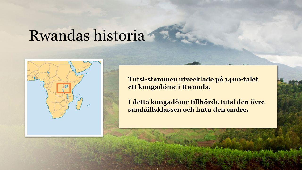 Rwanda Tutsi-stammen utvecklade på 1400-talet ett kungadöme i Rwanda.