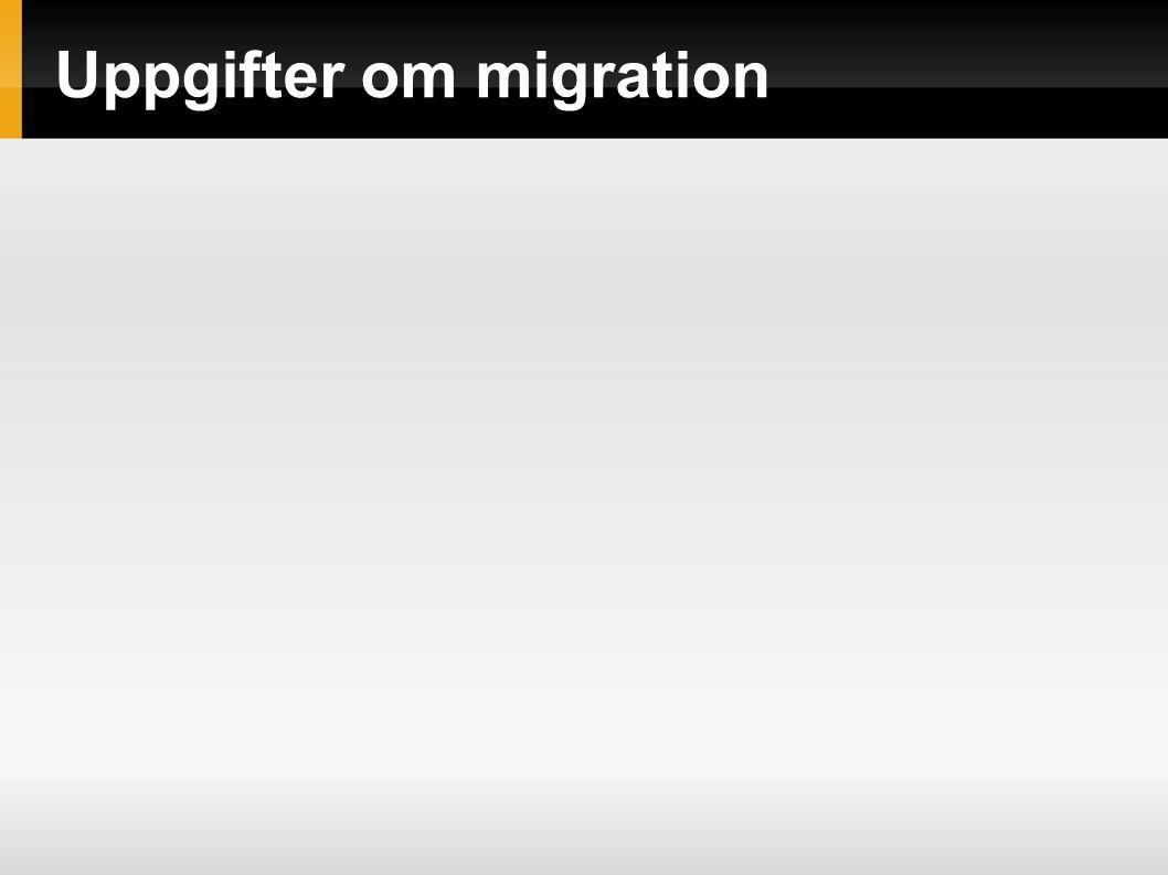 Uppgifter om migration