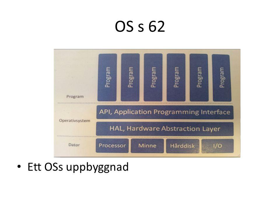OS HAL: skapar en virtuell dator genom maskinvarufunktioner.