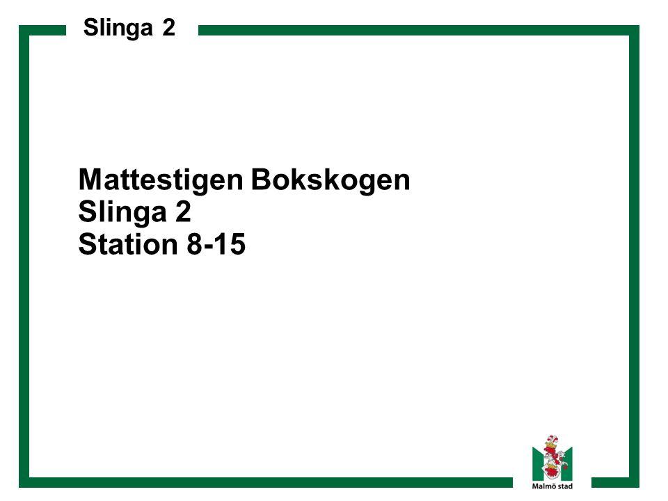 Slinga 2 Mattestigen Bokskogen Slinga 2 Station 8-15