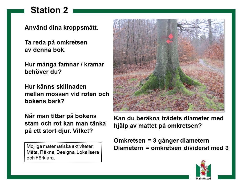 Station 2 Använd dina kroppsmått. Ta reda på omkretsen av denna bok.