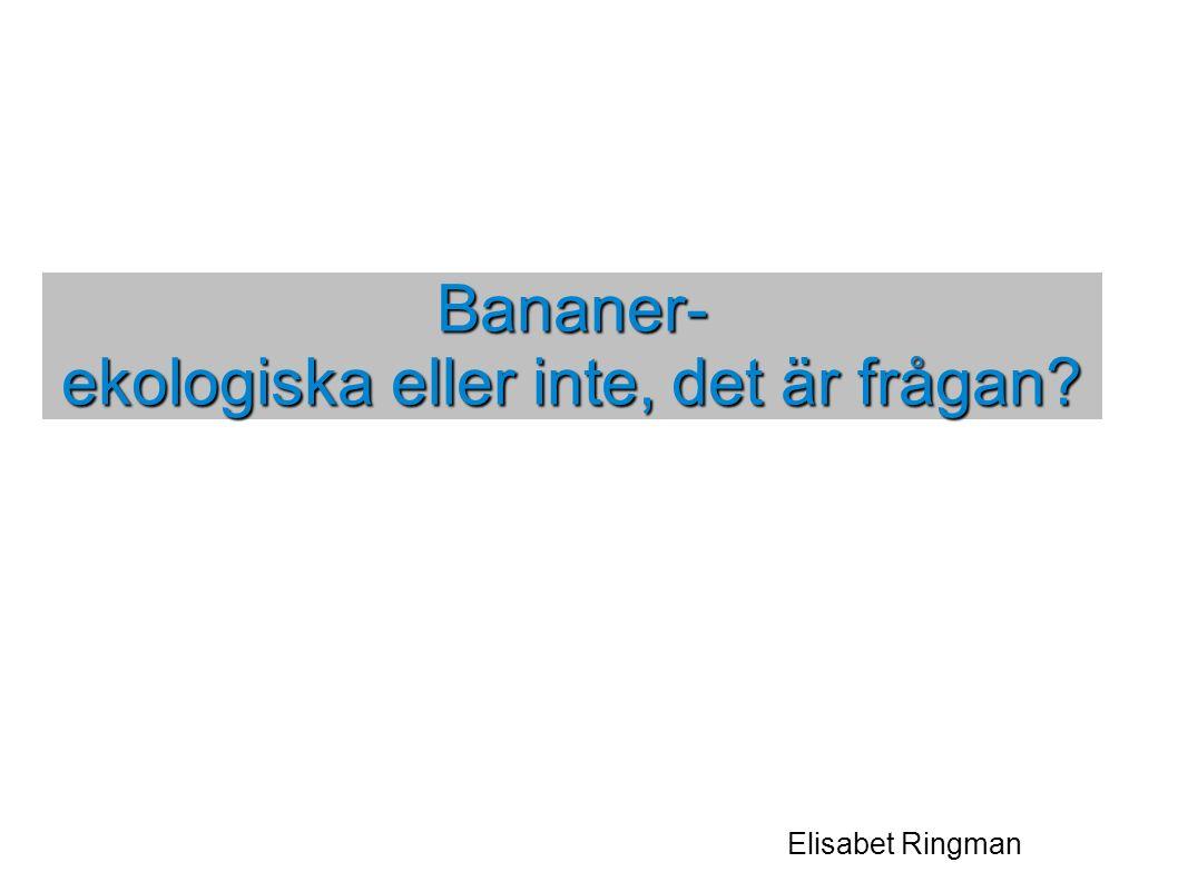 Elisabet Ringman Bananer- ekologiska eller inte, det är frågan?