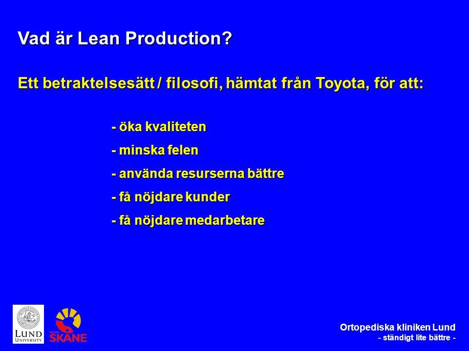 Vad har då Toyota att göra med en höftfrakturlinje.