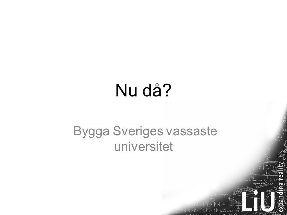 25 Nu då? Bygga Sveriges vassaste universitet