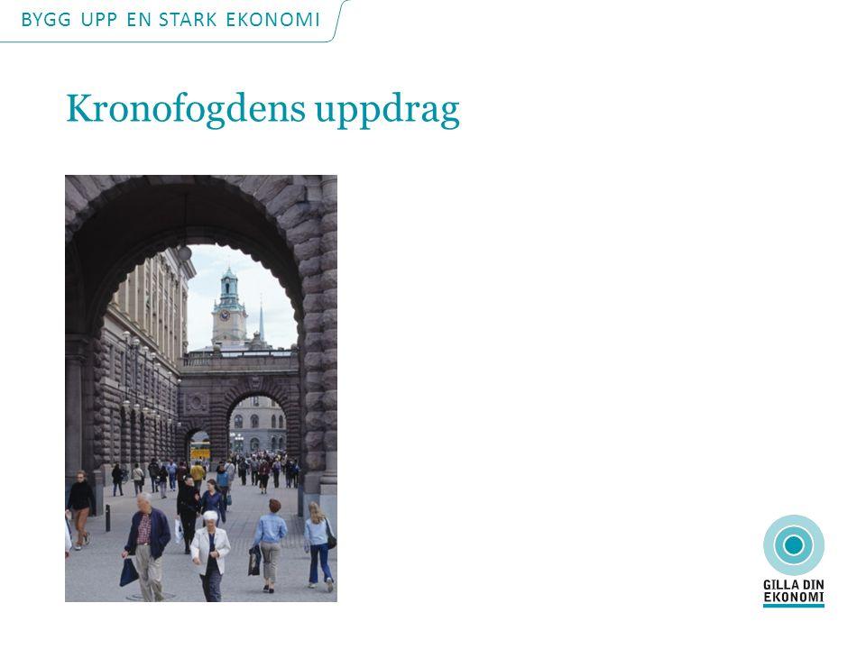 BYGG UPP EN STARK EKONOMI Kronofogdens uppdrag