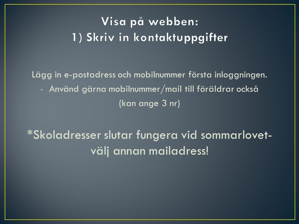 3) Modernt språkval 1) För meritpoäng (fortsätta m.