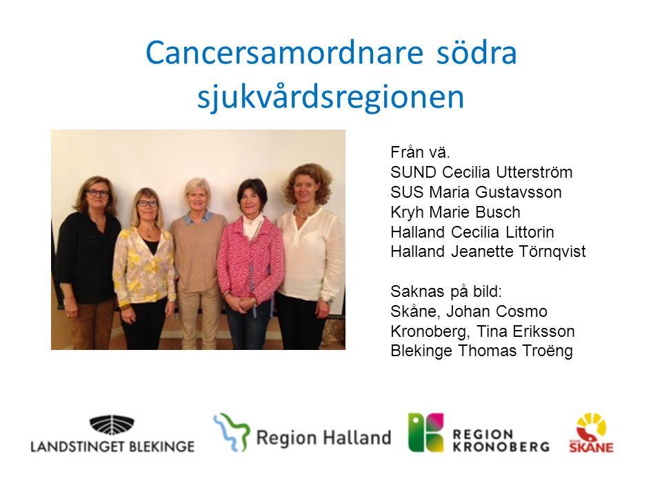 Cancersamordnare södra sjukvårdsregionen Från vä.