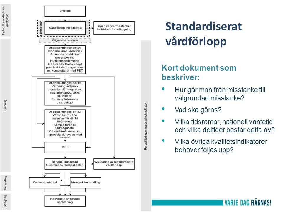 Stimulansmedel 2015 – Alla landsting och regioner har beslutat påbörja införandet av standardiserade vårdförlopp under 2015 med de fem första diagnoserna.