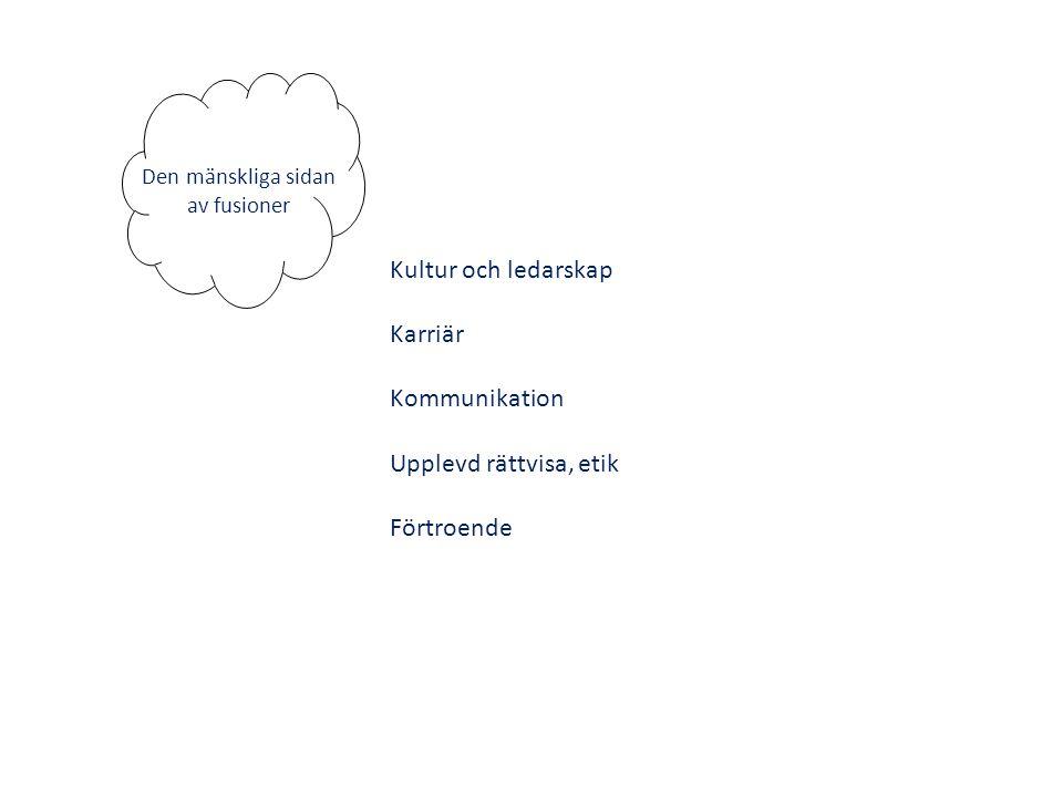 Viktigt inom HRM vid fusioner (Bryman, 2003) Anställningstrygghet (Schweiger et al, 1987) Procedurmässig rättvisa (Ashkenas et al., 1998; Brockner et al., 1994; Brockner and Greenberg, 1990) Tvåvägskommunikation (Ashkenas et al., 1998; Napier et al., 1989; Schweiger and Denisi, 1991; Citera and Rentsch, 1993) Viktigt inom HRM vid fusioner (Bryman, 2003) Anställningstrygghet (Schweiger et al, 1987) Procedurmässig rättvisa (Ashkenas et al., 1998; Brockner et al., 1994; Brockner and Greenberg, 1990) Tvåvägskommunikation (Ashkenas et al., 1998; Napier et al., 1989; Schweiger and Denisi, 1991; Citera and Rentsch, 1993)