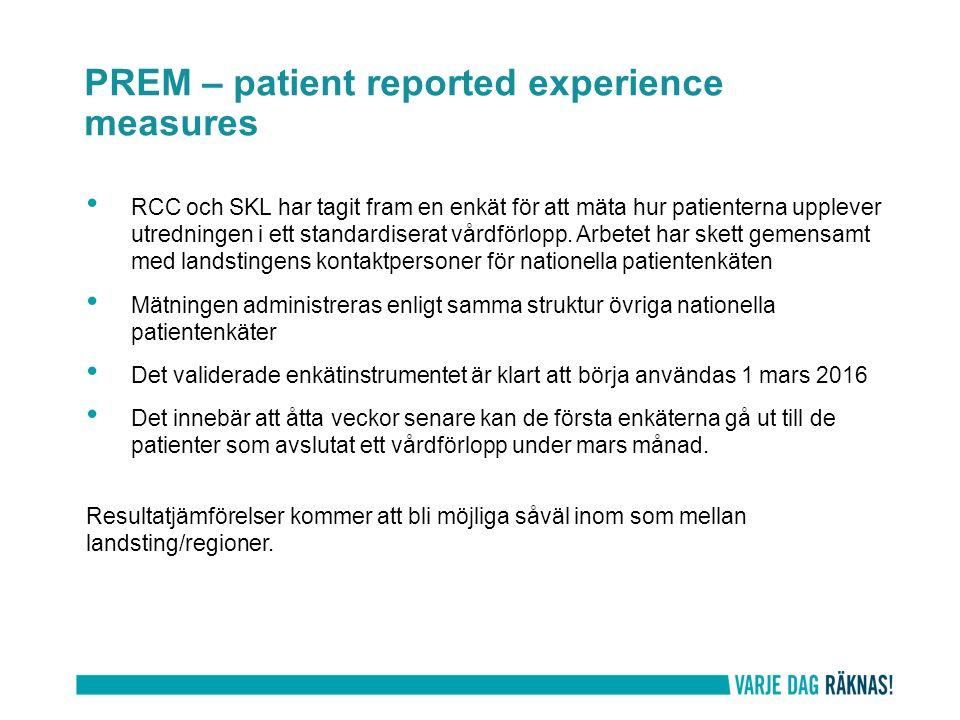 RCC och SKL har tagit fram en enkät för att mäta hur patienterna upplever utredningen i ett standardiserat vårdförlopp.