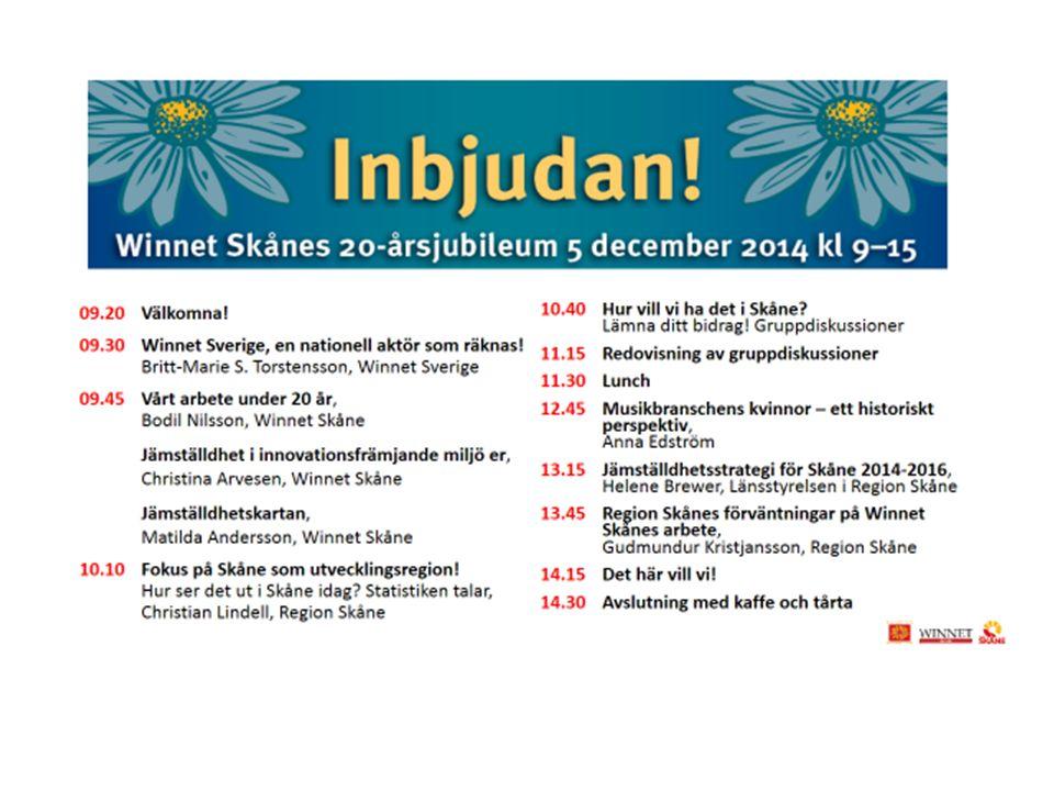 Verksamhetsledare Bodil Nilsson Ordförande Winnet Skåne Christina Arvesen www.winnetskane.se