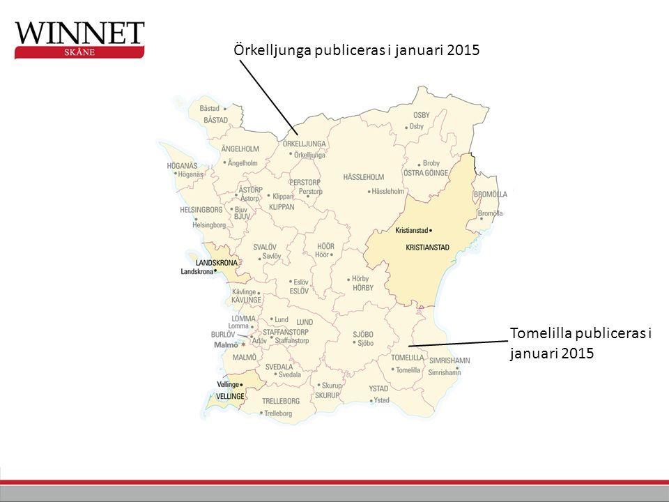 Örkelljunga publiceras i januari 2015 Tomelilla publiceras i januari 2015
