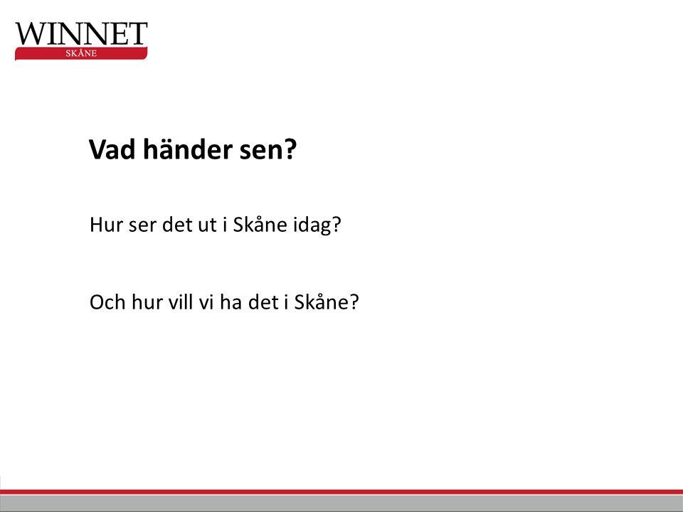 Hur ser det ut i Skåne idag Och hur vill vi ha det i Skåne Vad händer sen