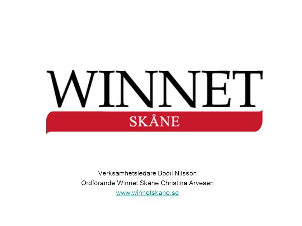 Winnet Sverige Regionala och Lokala ResursCentra och nätverk för kvinnor i hela Sverige Skåne Winnet Skåne - RRC ca 20 LRC och nätverk ca 3 000 kvinnor Medlemsbroschyr!