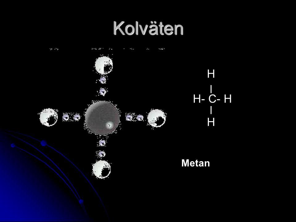 Kolväten H- C- H H H Metan