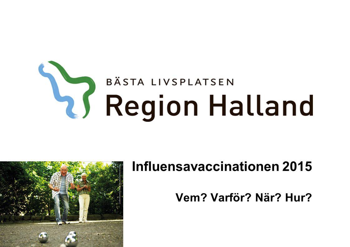 Influensavaccinationen 2015 Vem? Varför? När? Hur?
