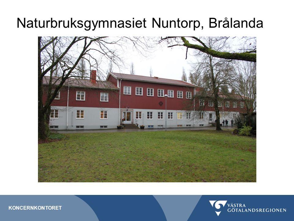 Naturbruksgymnasiet Nuntorp, Brålanda KONCERNKONTORET