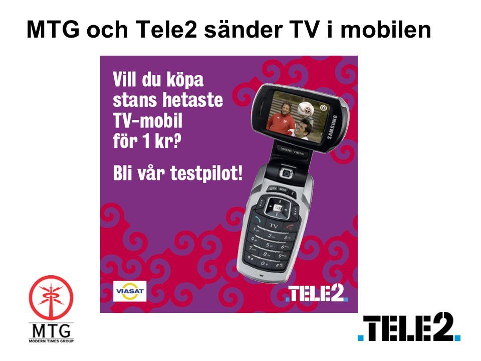 MTG och Tele2 sänder TV i mobilen