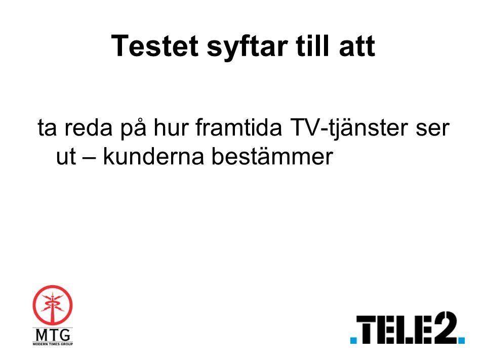 Testet syftar till att ta reda på hur framtida TV-tjänster ser ut – kunderna bestämmer
