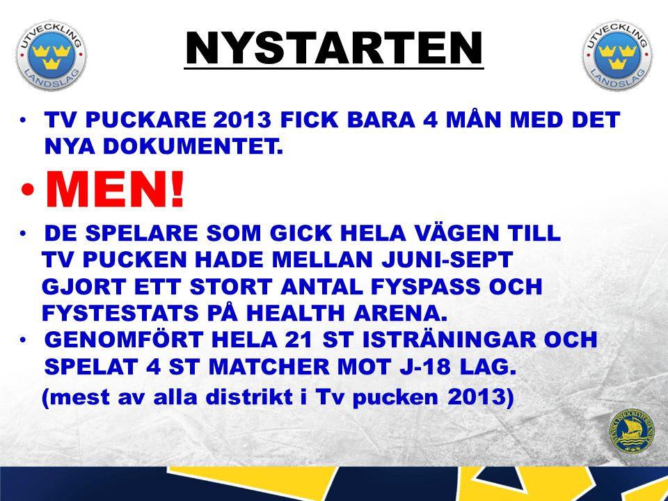 LAGBYGGET TV PUCKLAGET 2015 SKA FÅ 12 MÅNADER MED UTVECKLINGS DOKUMENTET.