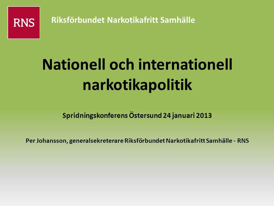 Riksförbundet Narkotikafritt Samhälle 1980 Riksåklagarens cirkulärskrivelse