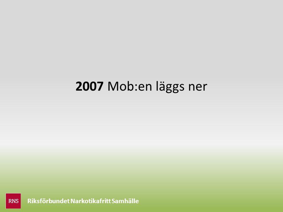 Riksförbundet Narkotikafritt Samhälle 2007 Mob:en läggs ner