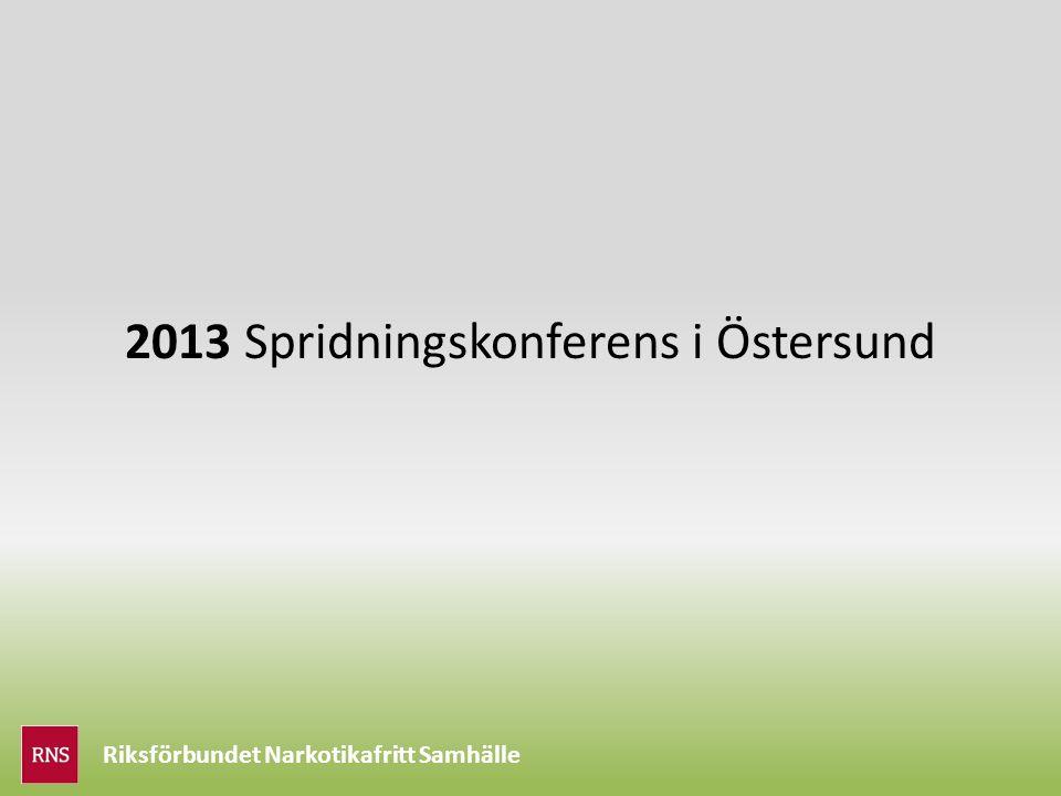Riksförbundet Narkotikafritt Samhälle 2013 Spridningskonferens i Östersund