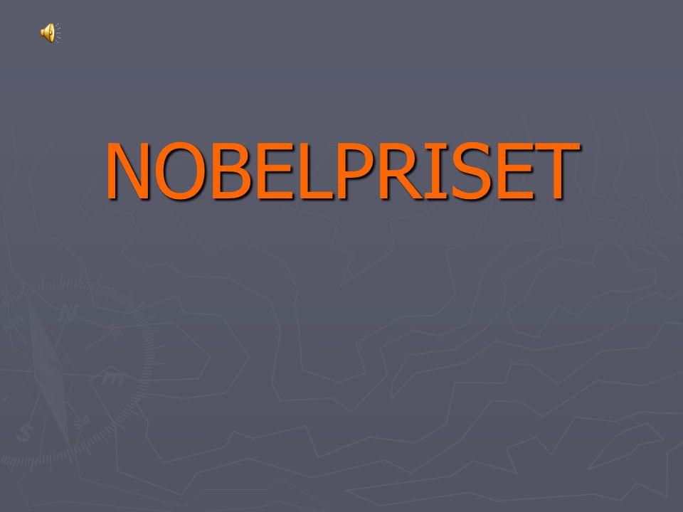 NOBELPRISET Av de 33 miljoner han samlat i sin förmögenhet ska 31 utgöra en speciell fond som varje år delar ut räntan till dem som under det förlupne året hafva gjort menskligheten störst nytta . ► 1901 delades det första Nobelpriset ut.
