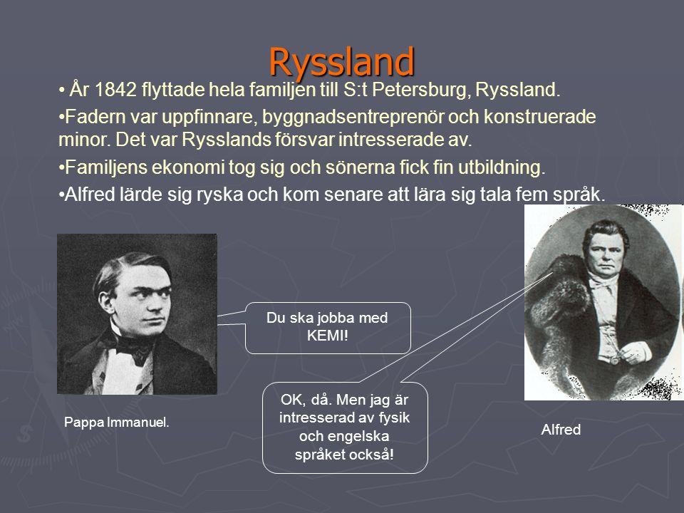 Alfred föddes … ► I Stockholm 1833 som den fjärde av 8 syskon.