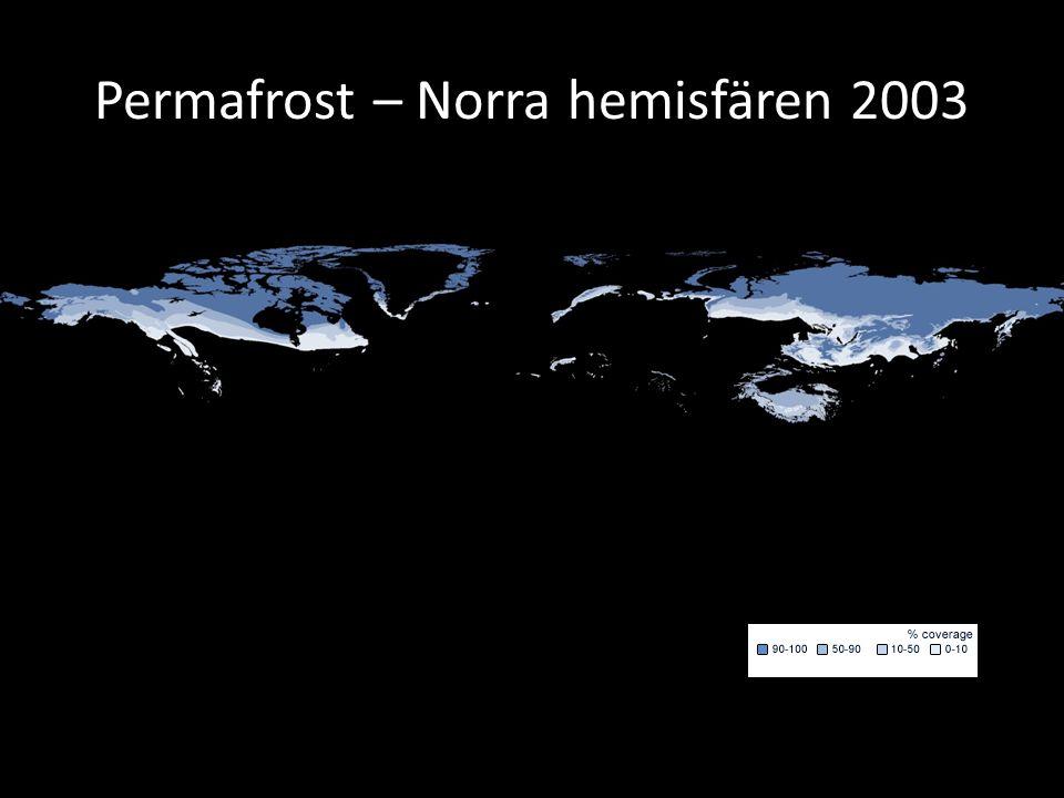 Permafrost – Norra hemisfären 2003