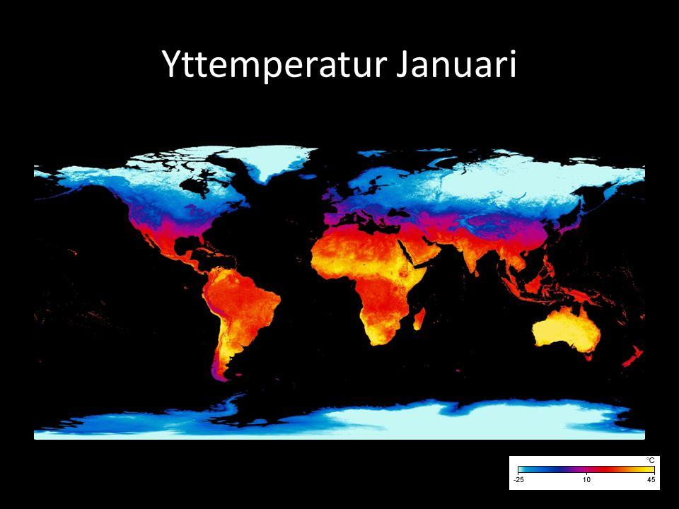 Yttemperatur Januari