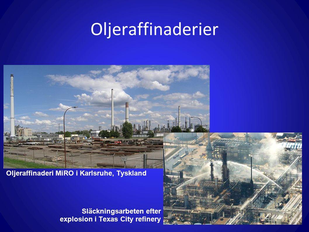 Oljeraffinaderier Oljeraffinaderi MiRO i Karlsruhe, Tyskland Släckningsarbeten efter explosion i Texas City refinery