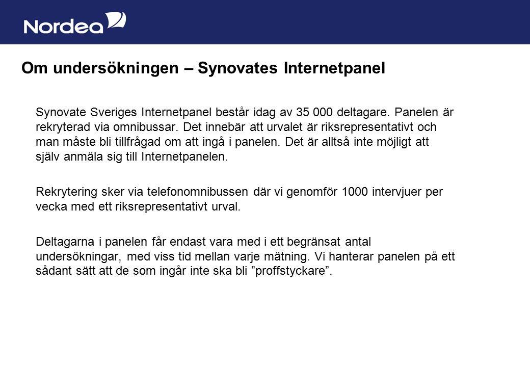 Sida 25 Synovate Sveriges Internetpanel består idag av 35 000 deltagare.