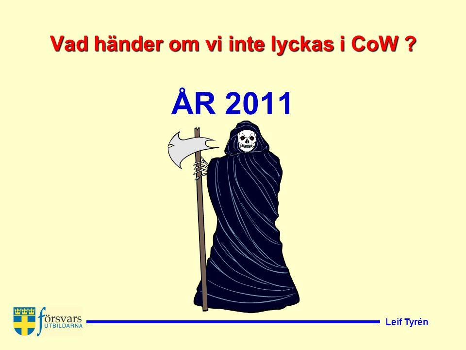Leif Tyrén Vad händer om vi inte lyckas i CoW ? ÅR 2011