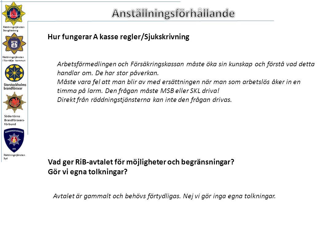 Räddningstjänsten i Norrtälje kommun Södertörns Brandförsvars- förbund Räddningstjänsten Storgöteborg Räddningstjänsten Syd Vad ger RiB-avtalet för möjligheter och begränsningar.