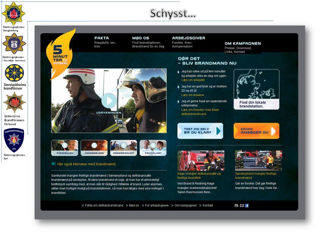 Räddningstjänsten i Norrtälje kommun Södertörns Brandförsvars- förbund Räddningstjänsten Storgöteborg Räddningstjänsten Syd