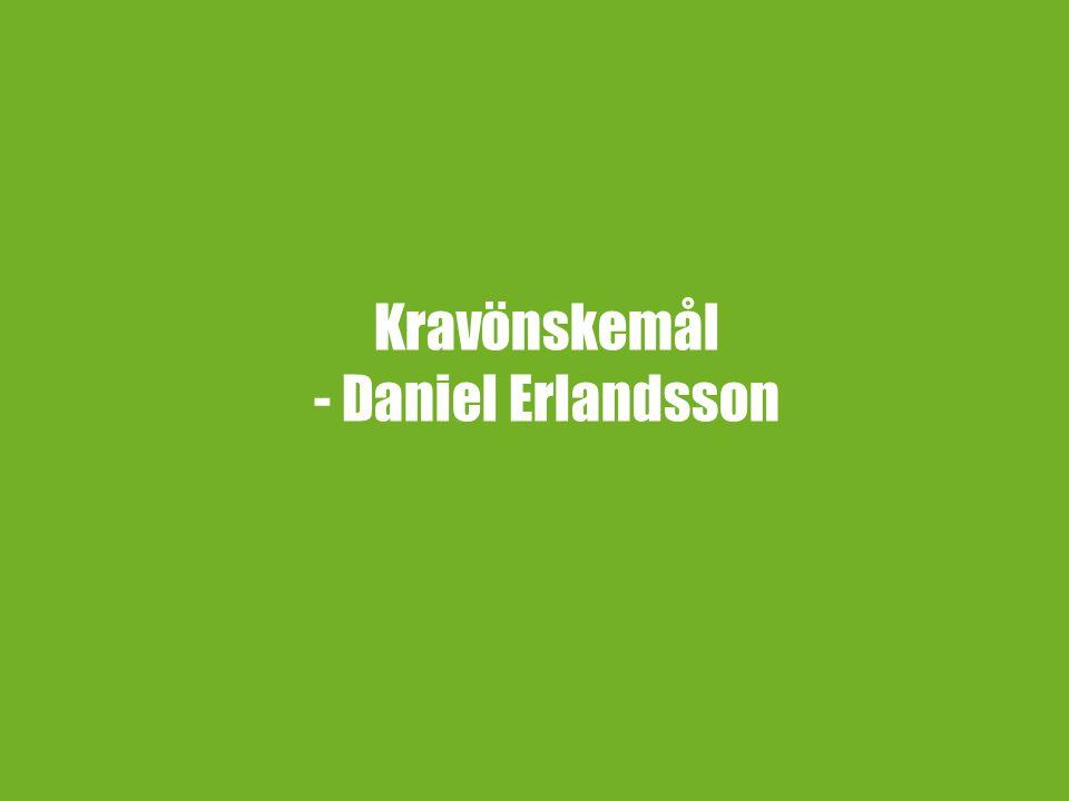 Kravönskemål - Daniel Erlandsson