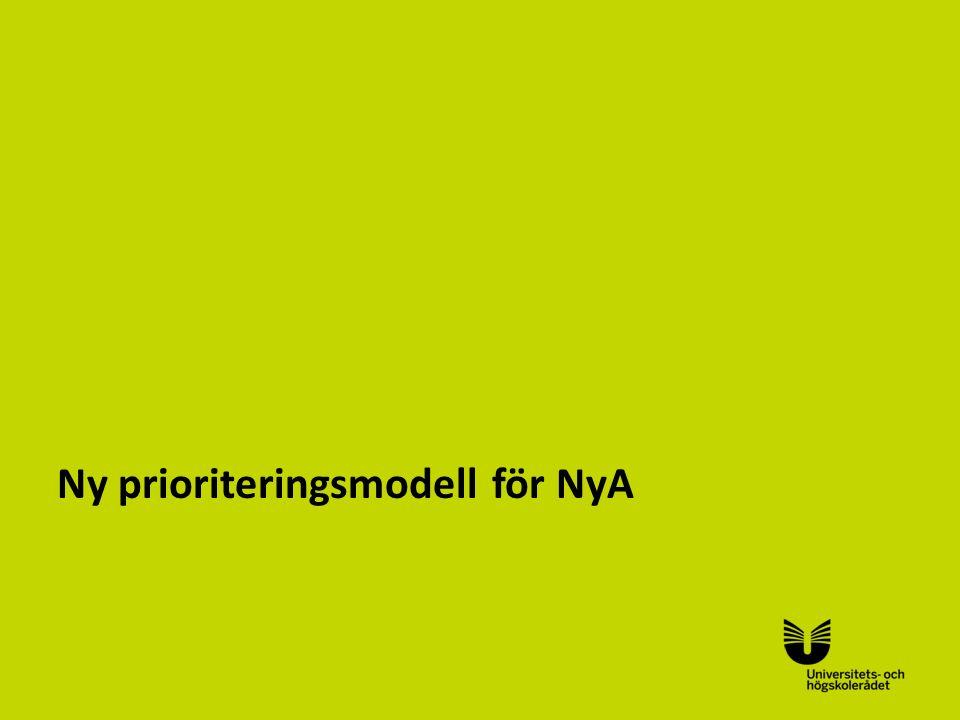 Ny prioriteringsmodell för NyA