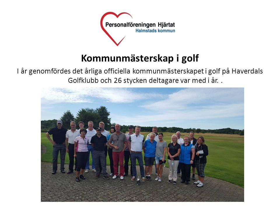 Kommunmästerskap i golf I år genomfördes det årliga officiella kommunmästerskapet i golf på Haverdals Golfklubb och 26 stycken deltagare var med i år.