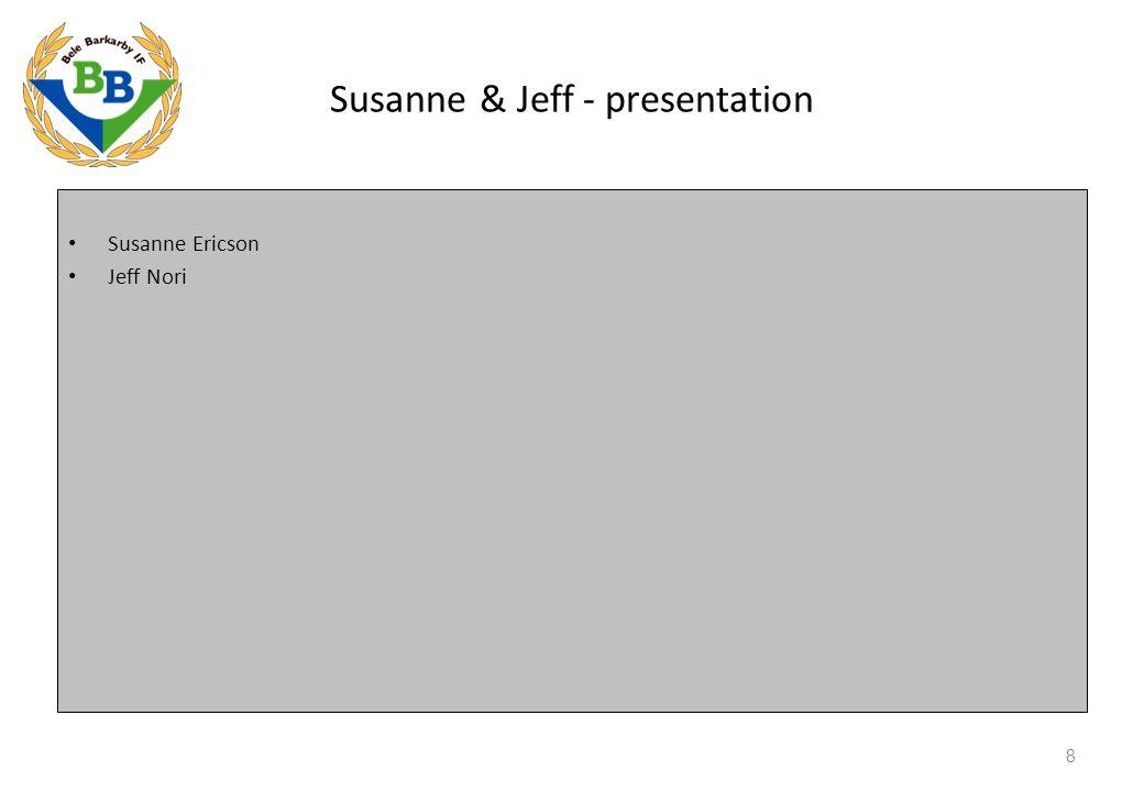 Susanne & Jeff - presentation Susanne Ericson Jeff Nori 8