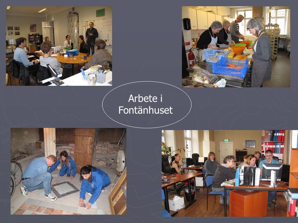 Arbete i Fontänhuset